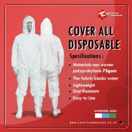 Cover all Disposable APD Jump Suit