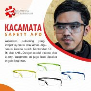 Kacamata Safety APD Bening model dinamis dan sporty