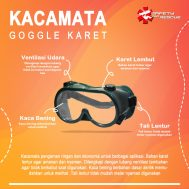 Kacamata Goggle Karet Hijau